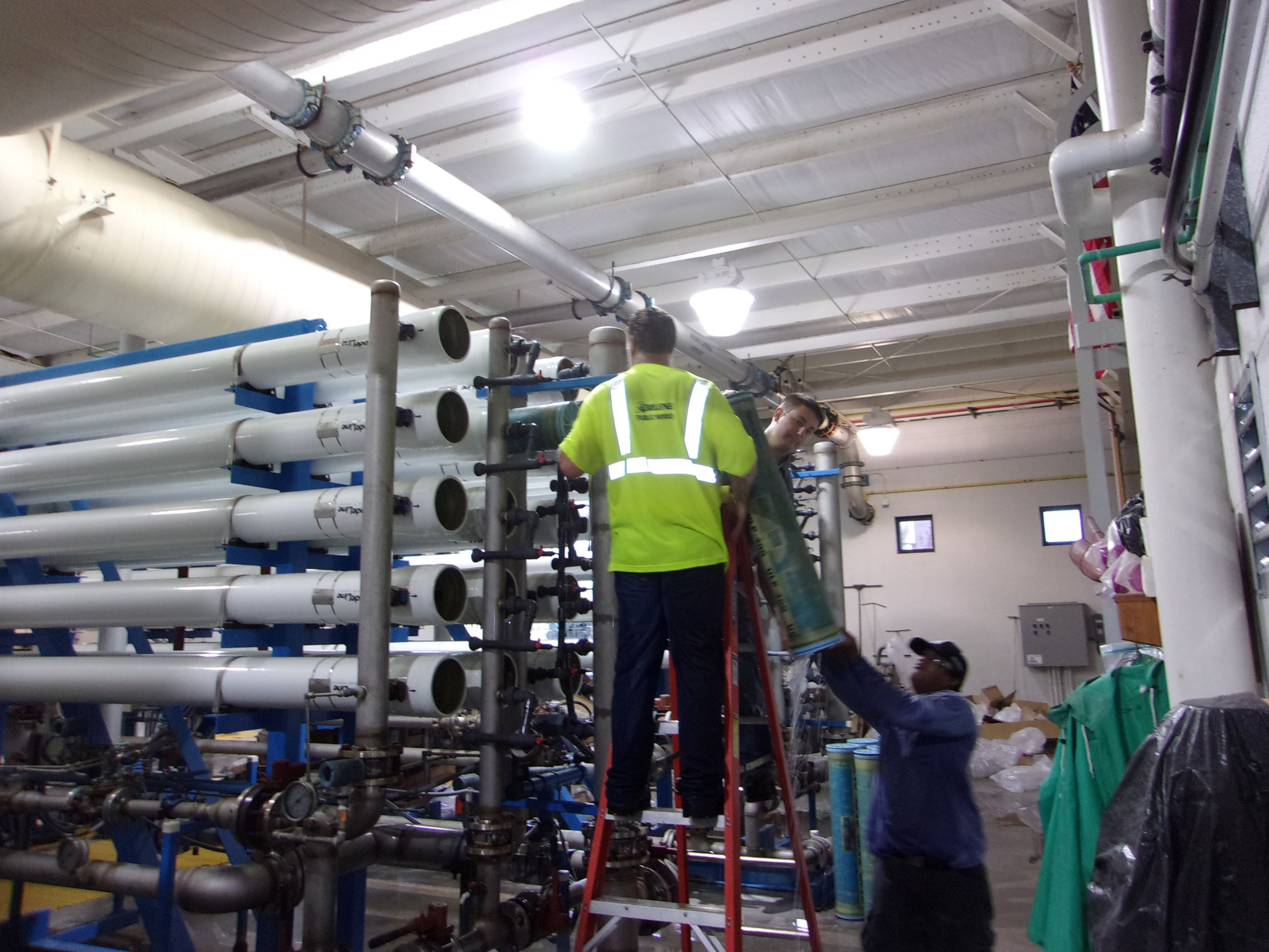 RO3 Membrane Replacement at the Water Treatment Plant