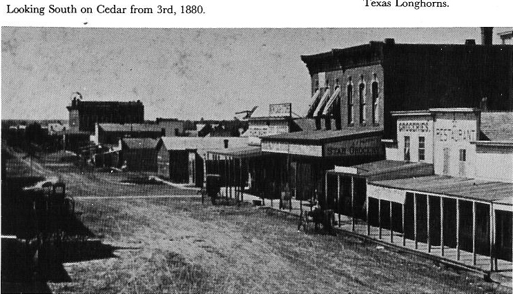 300 block of Cedar looking south - 1860s